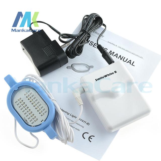 Manka Cuidar Dos Dentes Branqueamento Branco Simples Operação Sorriso de Dentes Branqueamento Uso Doméstico Mini LED Light Higiene Oral Frete grátis