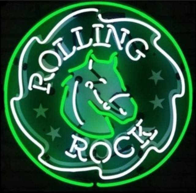 Custom ROLLING ROCK Neon Light Sign Beer Bar