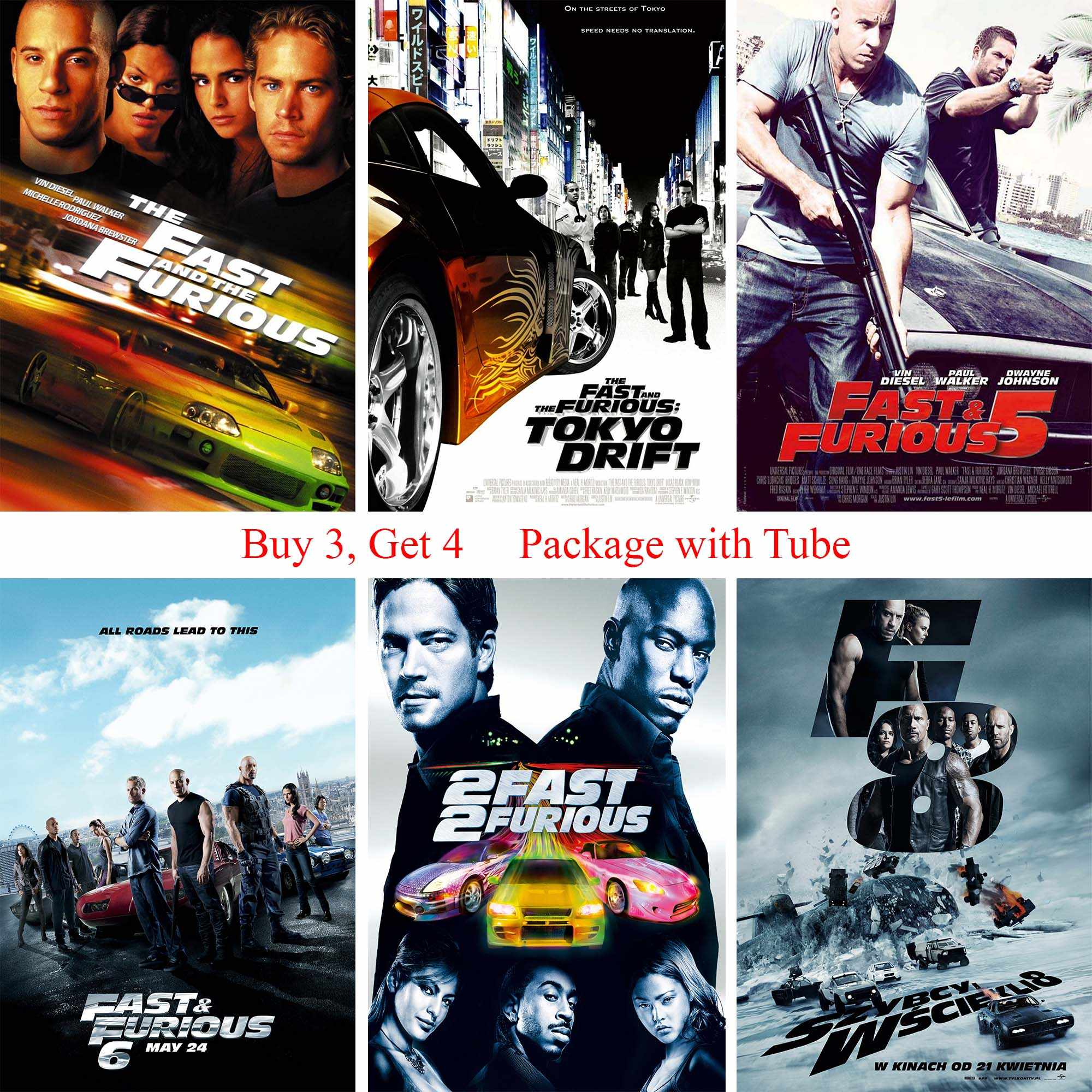 fast furious movie posters clear image wall stickers for livingroom bedroom home art brand