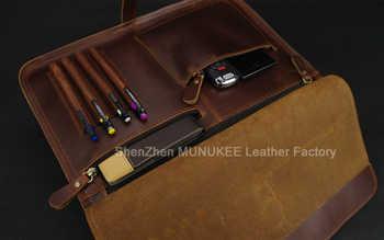 Luxury Italian Genuine Leather Men\'s Briefcase Business Bag Leather laptop briefcase Men Shoulder Bag Messenger Bag Tote Handbag