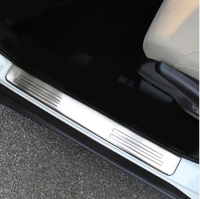 Stainless steel scuff plate door sill 4pcs/set Car Accessories For Honda CRV 4 generation 2011-2015