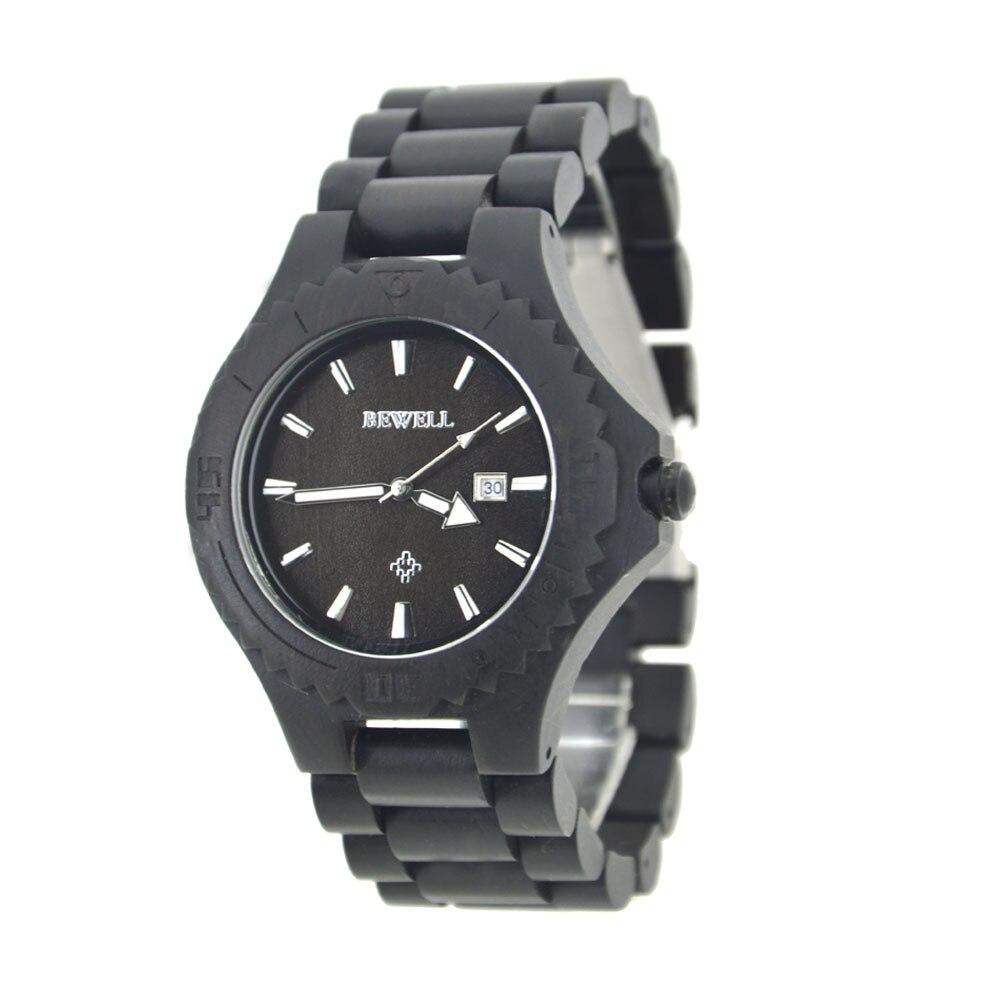 Rétro Hommes de Montre Simple décontracté montres en bois D'affaires Santal Quartz Montres Vente