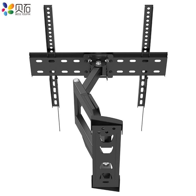 Full Motion TV Wall Mount Bracket Swivel Tilt TV Frame MounT Fits Most 26-55 Inch LED LCD Flat Screen Up to 88lbs VESA 400x400mm