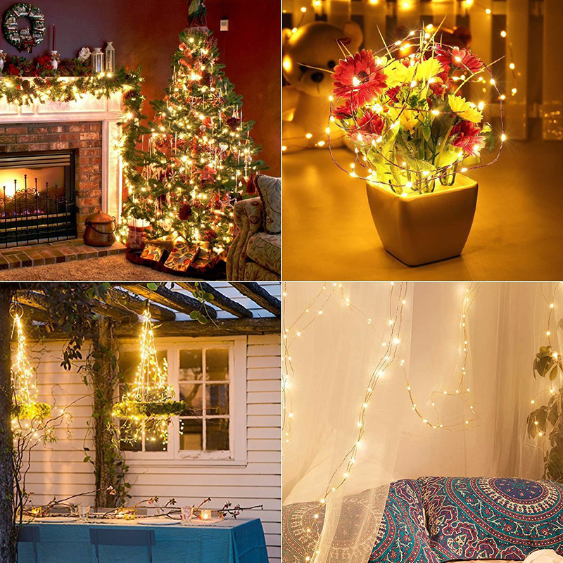 10m solar led string lights copper waterproof 100 led christmas 10m solar led string lights copper waterproof 100 led christmas lights outdoor solar lamp for wedding tree garden decoration in solar lamps from lights mozeypictures Gallery