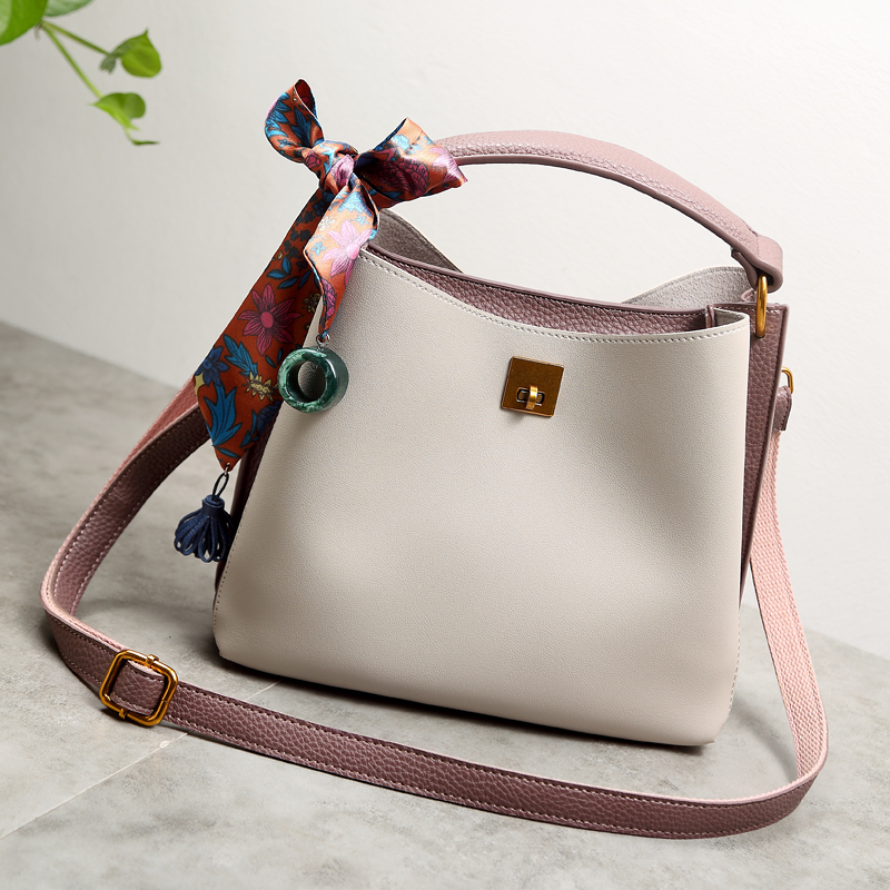 2017 Women Genuine Leather Handbags Luxury Women's Messenger Shoulder Bags summer Bucket Crossbody woman Luxury Brand new X95