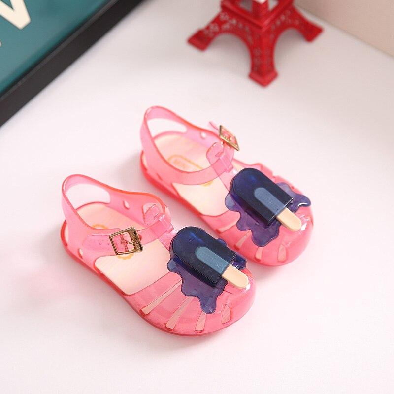2019 New Kids Mini Melissa Jelly Sandals For Baby Girls ice cream Children  Summer Cute Cartoon Beach Shoes Infantil Sandalia-in Sandals from Mother    Kids ... 468ebf2b3