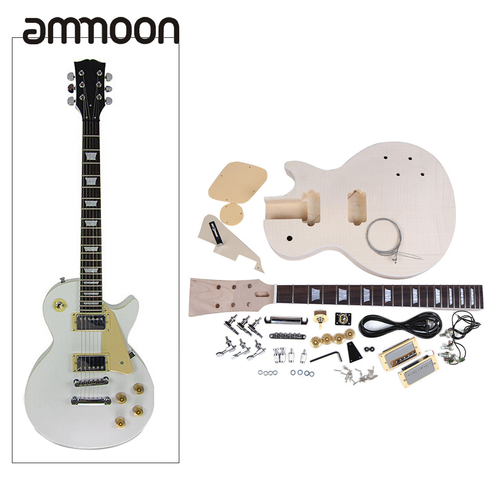 New Arrival! High Quality Electric Guitar DIY Kit Set Mahogany Body Rosewood Fingerboard Nickel Alloy String
