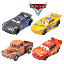 Disney Pixar Cars 3 Jackson Storm Lightning McQueen Smokey Cruz Ramirez High Quality 1:55 Diecast Car Toy Model Children's Gift