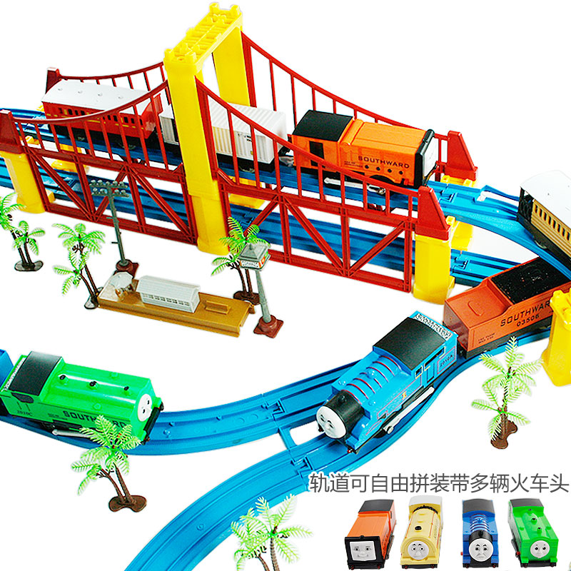Thomas train track electric toy set double layer train ...
