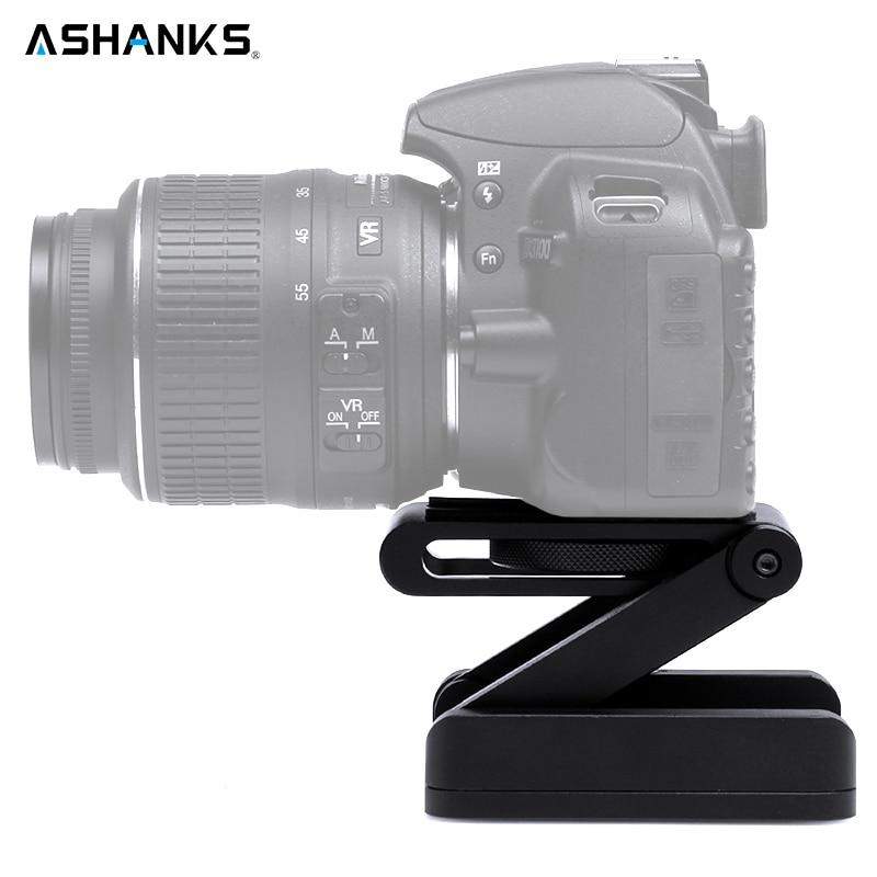 цена на ASHANKS Z Type Tilt Tripod Head Flex Folding Z Pan for Canon Nikon Sony DSLR Camera Aluminum Alloy Top Quality Guaranteed Metal