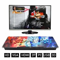 Newest Pandora 3D Box Arcade Game Console 2200 in 1 Game PCB Board Console with LED buttons game machine HDMI VGA Output