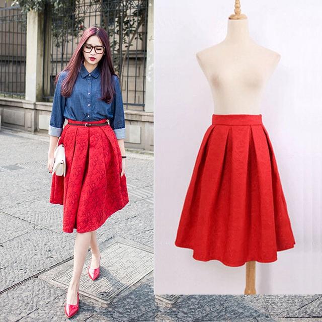 Ladies Midi Skirts - Dress Ala