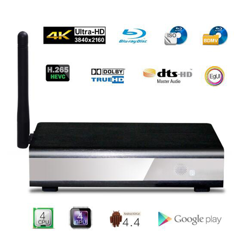 Egreat R6S-II 4 K UHD Lecteur Multimédia Intelligent Android TV Box, soutien DVD-ISO BD-ISO, Dolby Digital Plus, Dolby Ture-HD, DTS DTS-HD MA