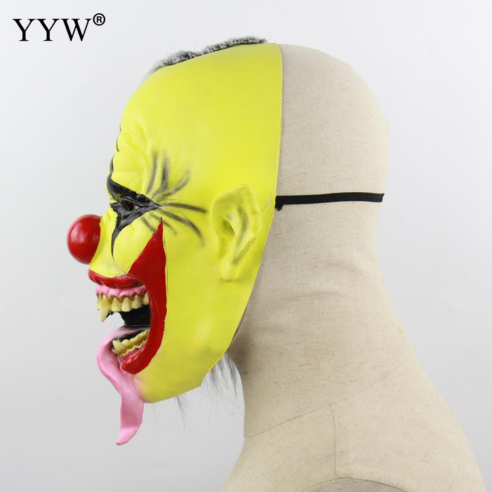 Halloween Horror Mask Latex Clown Cosplay Scary Masks Adult Party Masquerade Halloween Maske Mascaras Terror Masque Funny Mask in Party Masks from Home Garden