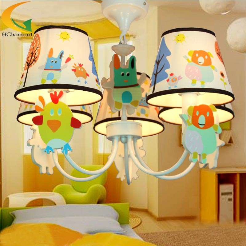 children's room chandelier LED children bedroom led lamp kids room home lighting boys/girls bedroom chandelier ceiling resin aircraft baby room wood chandelier led acrylic 3 head pendant lamp modern chandelier led children s kids bedroom loft