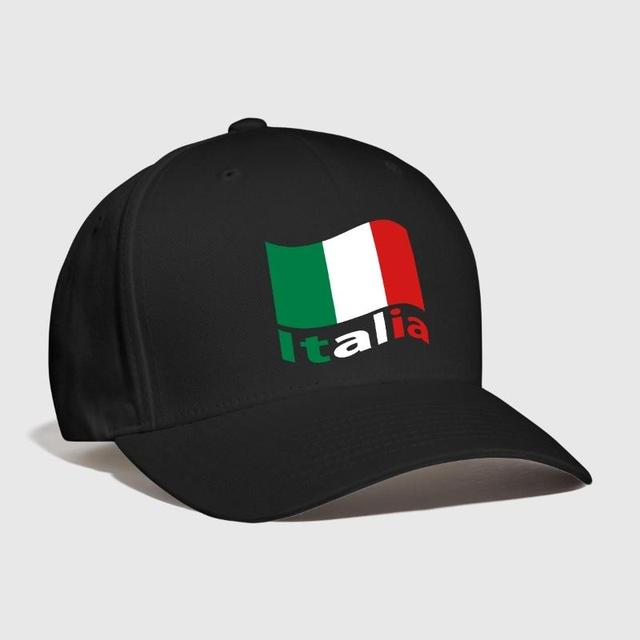 f4df690e2a385 Italian flag with lettering of Italia Embroidered Customized Handmade Roma  USA atlanta italien milano naples Curved Dad hat