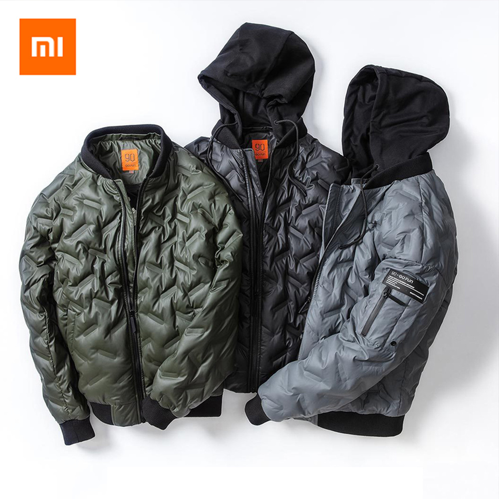 Original Xiaomi Jackets Men Warm Hooded Mens Winter Parkas Thick Men's Jackets Warmth Down Coat winter men jacket new brand high quality candy color warmth mens jackets and coats thick parka men outwear xxxl