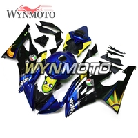Complete ABS Plastic Injection Blue Shark Covers New Motorcycle Fairings For Yamaha YZF R6 Year 2008 09 10 11 16 Body Frames