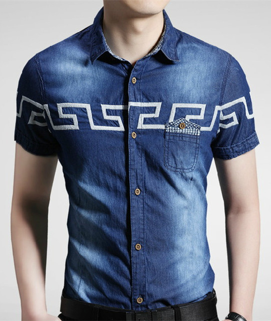 Denim Mens 2015 Fashion Arrival Men Jeans Camisa Shirt New Shirt waASw0q