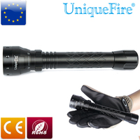 Uniquefire 3 Mode Troch 1502 XP E Flashlight Green/Red/White Light High quality Black Torch For 2 x 18650 Rechargeable Battery