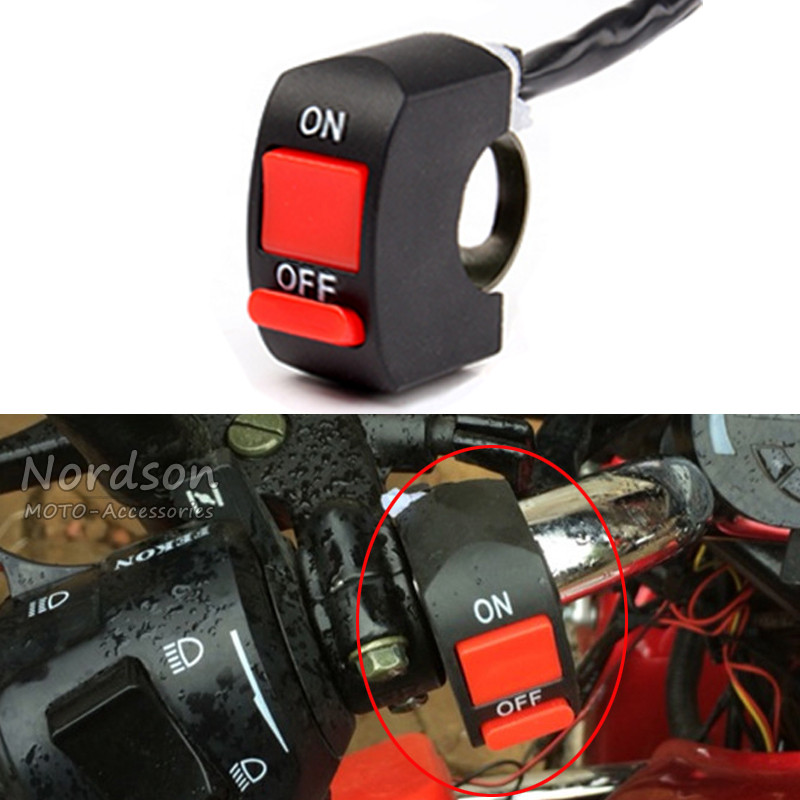 New Universal Handlebar Motorcycle Motorbike lamp Switch moto motocross scooter Accident Hazard ON/OFF Button Light Switch 7