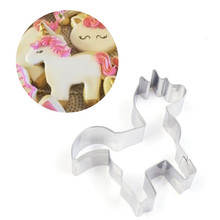 VOGVIGO Unicorn Animal Cookie Cutter Stainless Steel Fondant Baking Mold Biscuit Mould Sugarcraft Pastry Tools