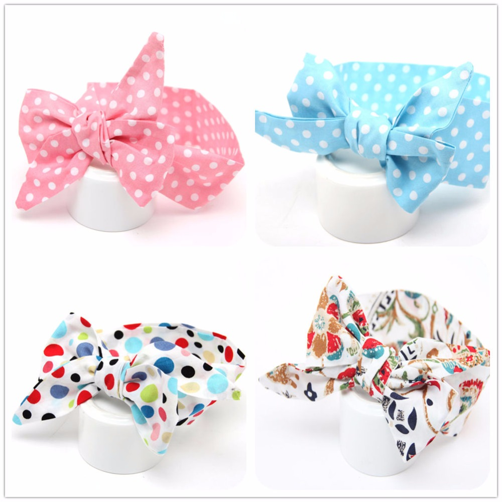 new baby girl polk dots hair head band accessory wrap for kids child turban knot headband hair ornaments bows headwear infant new women head scarf chemo hat turban pre tied headwear bandana tichel for cancer ladies turbante