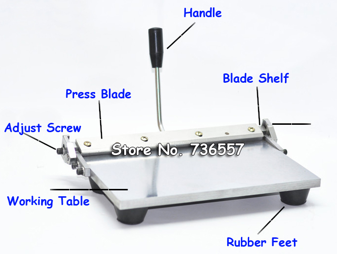300mm Manual Folding Creasing Machine For Paper Leather PU Sheet Leather Creaser NEW