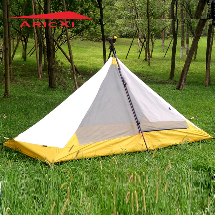 Aricxi pedestiran silicon coating 4 season inner tent ultra light high quality summer outdoor camping tent 995g camping inner tent ultralight 3 4 person outdoor 20d nylon sides silicon coating rodless pyramid large tent campin 3 season