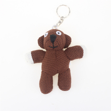11cm Funny Bear Stuffed Plush Teddy Bear Keychain Stuffed Animals Teddy Bear Dolls Small Pendant Cute
