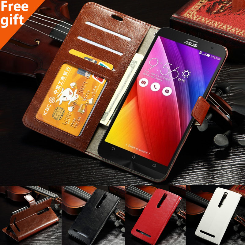 Vintage Photo frame Leather Case For ASUS ZenFone 2 ZE551ML ZE550ML 5.5'' Fashion Wallet Card Holder Cover Zenfone 2 ZE550ML