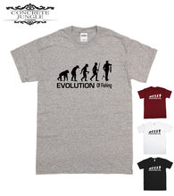 FISH T SHIRT FUNNY GIFT FATHERS DAY PRESENT - EVOLUTION OF TEE  Funny Tops Tee New Unisex free shipping