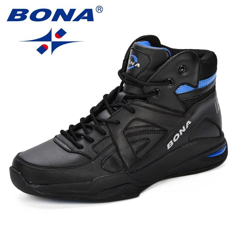 BONA Baskets Homme 2018 hommes basket-ball chaussures vache Split hommes chaussures plein air plat haut chaussures de Sport hommes formateurs Zapatillas Comfy - 2
