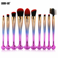 10 Pcs Eyes Makeup Brushes Set Eye Shadow Eyebrow Concealer Make Up Brushes Tools Beauty Cosmetic