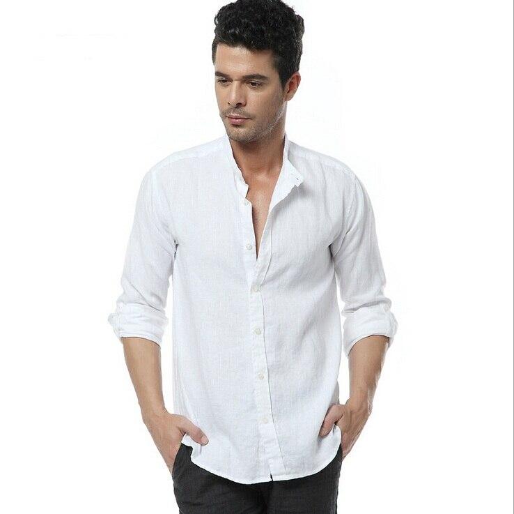 Popular 100 linen shirt buy cheap 100 linen shirt lots for Mens summer linen shirts