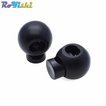 1000pcs/pack Plastic Cord Lock Round Ball Toggle Stopper Toggle Clip Widely For Bag Backpack/Clothing