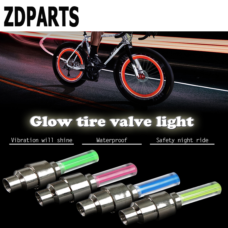 ZDPARTS 2X Motorcycle Car Wheel Tire Valve Caps Cover LED For Volvo V70 S60 Xc90 Peugeot 307 206 308 407 Mini Cooper Volkswagen