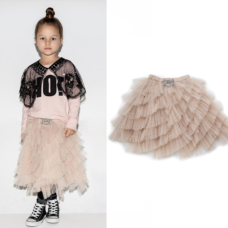Girls skirts 2019 spring new nununu girls party skirts vestidos tutu skirts children's clothes tulle skirt bobo choses 1 10Y