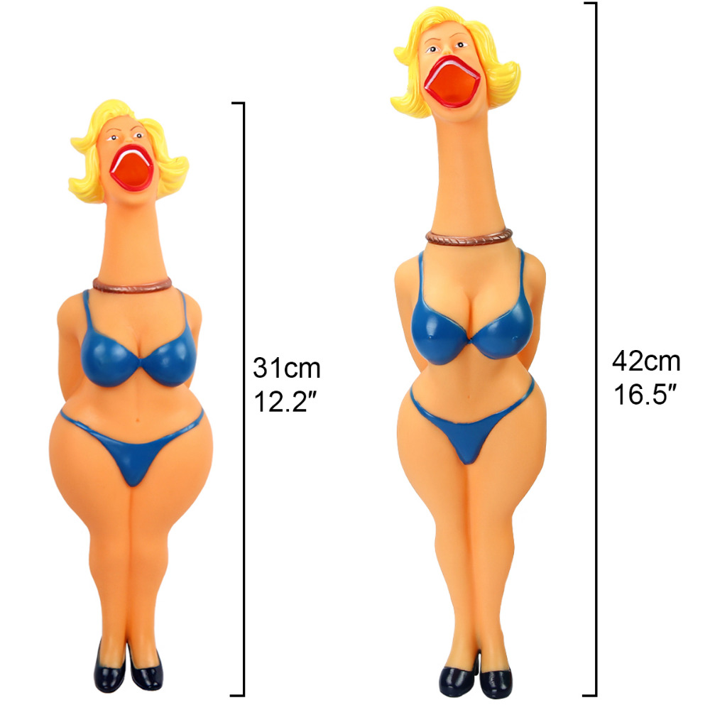 Screaming Chicken Lady Squeeze Sound Toy Husdyr Leker Shrilling - Humoristiske leker - Bilde 4