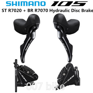 Image 1 - SHIMANO R7020 DUAL CONTROL LEVER 105 R7020 Hydraulic Disc Brake ROAD Bicycle R7020 + R7070 shifter Derailleur