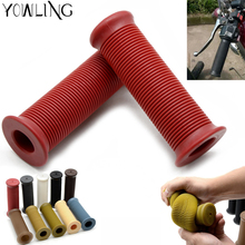 1 Pair Universal Motorcycle 7/8Rubber Handlebar Rubber Moto Hand Grips Bar End For 22mm vehicle bicycles racing dirt ATV bike