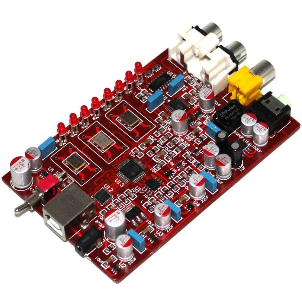 XMOS PCM5102 TDA1308 USB DAC 384 KHZ/32bit USB encodeur carte finie YJ0094