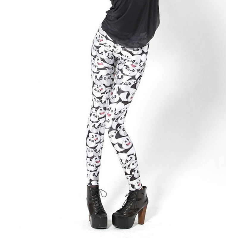 Spring Autumn Print Panda Women Leggings Sexy Slim Kongfu Penda Leggings ...
