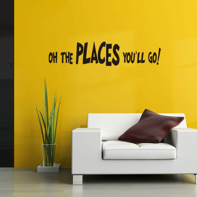 Oh The Places You\'Ll Go Letter Quotes Wall Stickers Bedroom ...
