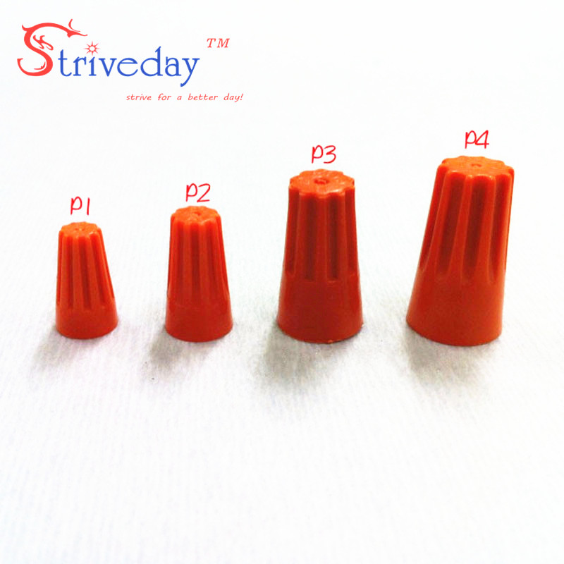 1000pcs lot NEW P3 Electrical Wire Twist Nut Connector Terminals Cap Spring Insert Assortment Color Orange
