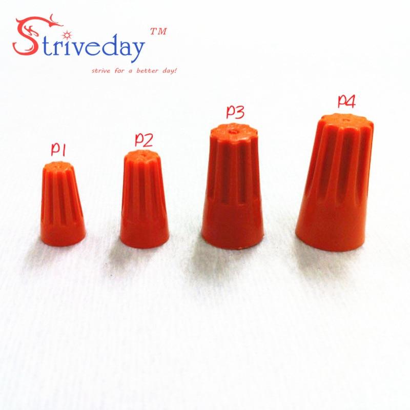 1000pcs lot NEW P3 Electrical Wire Twist Nut Connector Terminals Cap Spring Insert Assortment Color Orange