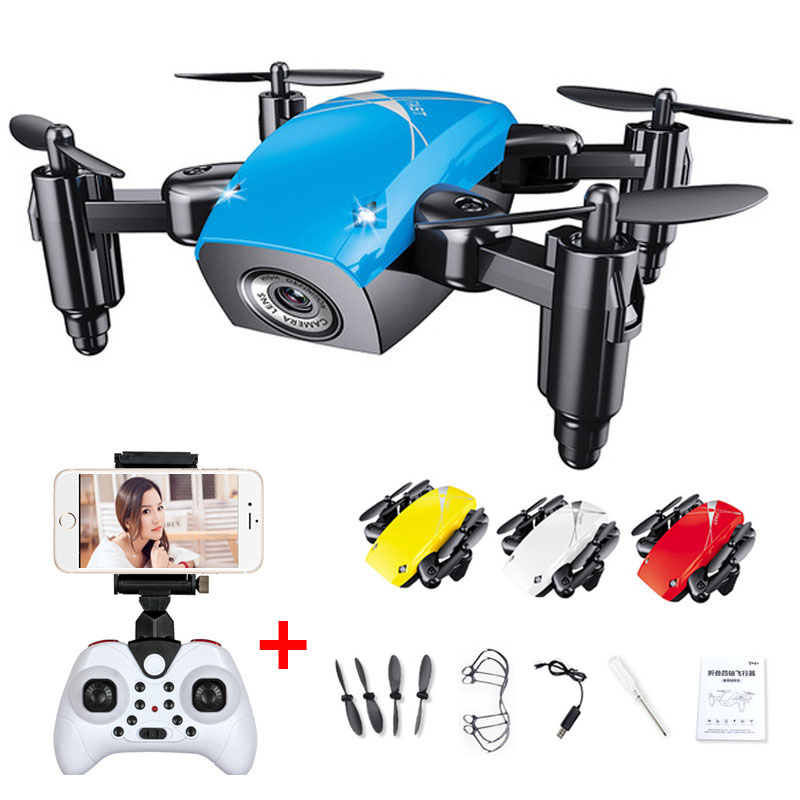 S9 S9W S9HW Foldable RC Mini Drone RC Helicopter With HD Camera Altitude Hold Wifi FPV FSWB Pocket Drone with gifts