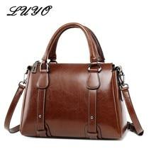 UYO, Ретро стиль, воск, масло, натуральная кожа, портфель, Топ-ручка, роскошные сумки на плечо, дизайнерские женские сумки, женская сумка-тоут