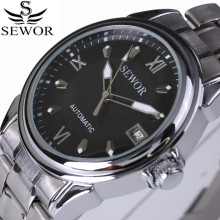 2017 Luxury Brand Stainless Steel Watch Men Business Casual Automatic Mechanical Watches Military Wristwatch Waterproof Relogio  недорого