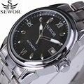 f269d30e377 Aço Inoxidável 2017 Marca de Luxo Relógio Ocasional Dos Homens de Negócios Mecânico  Automático Relógios de Pulso Militar Relogio À Prova D  Água